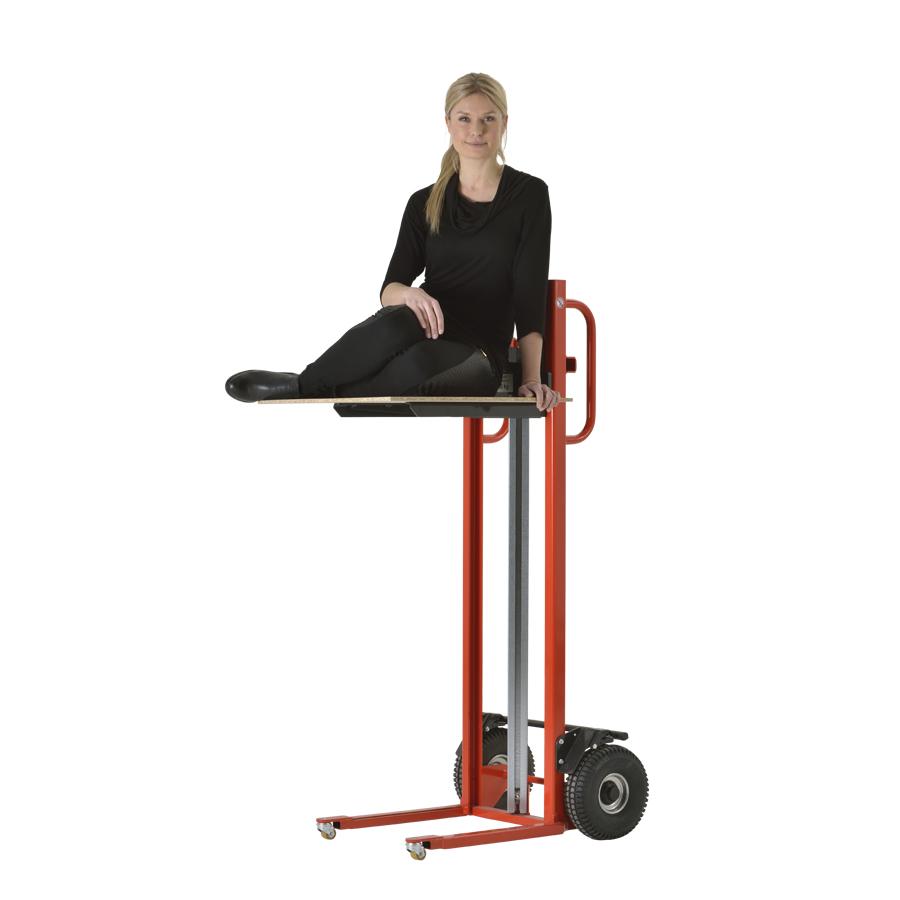 Sækkevogn med hejs og platform 250 kg | ErgoLift