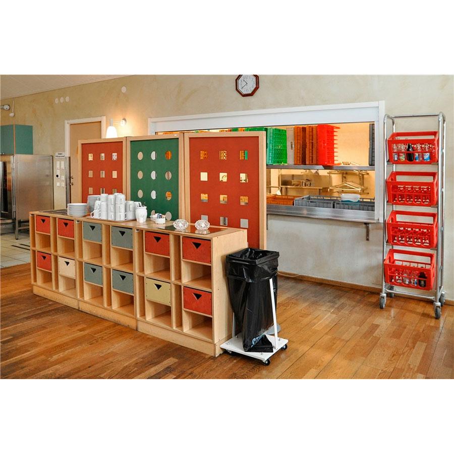 affaldsstativ 60 liter hvid ergolift. Black Bedroom Furniture Sets. Home Design Ideas